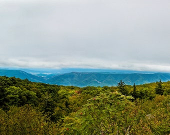 West Virginia, Panoramic Art, Appalachian Mountains, Dolly Sods WV, Mountain Photography, Foggy Mountains, Large Wall Art, Country Calling