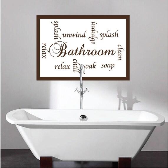 Bathroom Wall Art Letters Bathroom Design