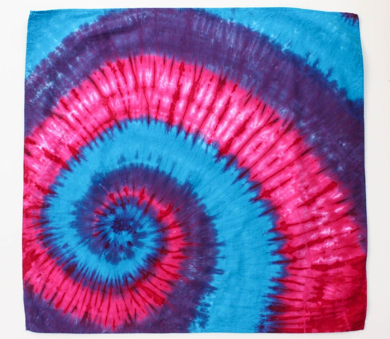 tie dye swirl bandana by chromatickiddos on etsy