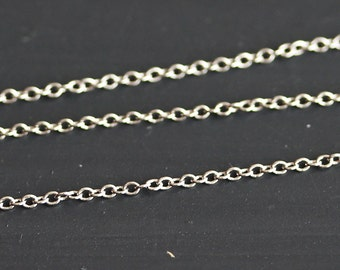 B5-18-R] Rhodium plated / 1.8 x 1.4mm / Cable Chain / 1 meter
