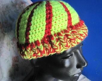 Custom Crochet Cap   Glow Stick