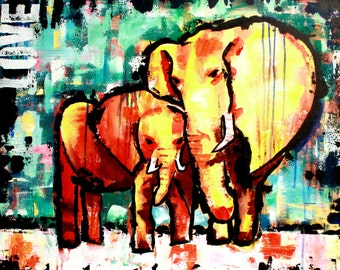 Elephant Love - PRINT