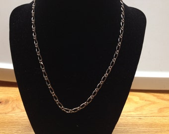 Vintage Silvertone Chain Necklace, Length 18''