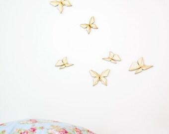 wooden wall art- graphic butterflies