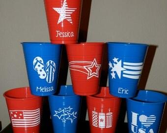 Americana Reusable Drinking Cups - 18 oz