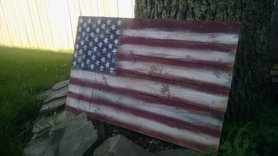 Rustic american flag reclaimed wood wall art by graydesigns34 American flag wood wall art