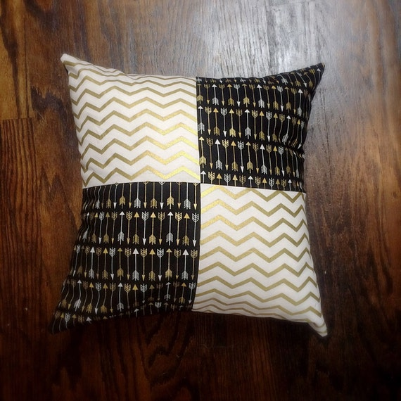 Decorative pillow black and gold black and gold throw pillow