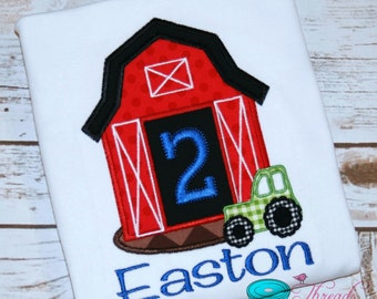 Farm Birthday Shirt - Barn Birthday Shirt - Tractor Birthday Shirt - Tractor Shirt - Farm Shirt - Farm Birthday