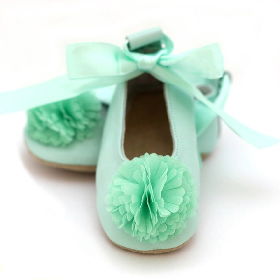 Mint Green Toddler Girl Shoes