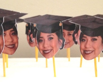 Graduation Photo Cupcake Toppers