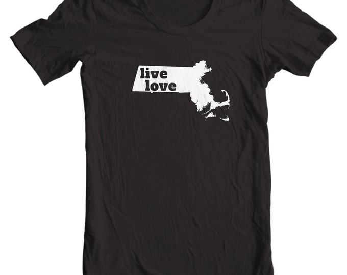 Massachusetts T-shirt - Live Love Massachusetts - My State Massachusetts T-shirt