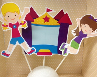 Girl and Boy Bounce House Party Centerpiece Decoration - Choose Any 3