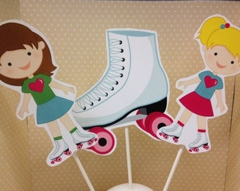 Girls Rollerskating Party Centerpiece Decoration - Choose Any 3