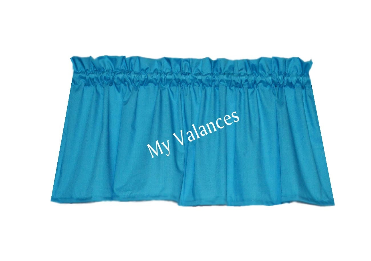 Turquoise Window Curtain Valance Perfect For A By Myvalances