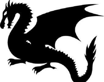 Dragon Decal Vinyl Car Sticker WHITE NiCE!!