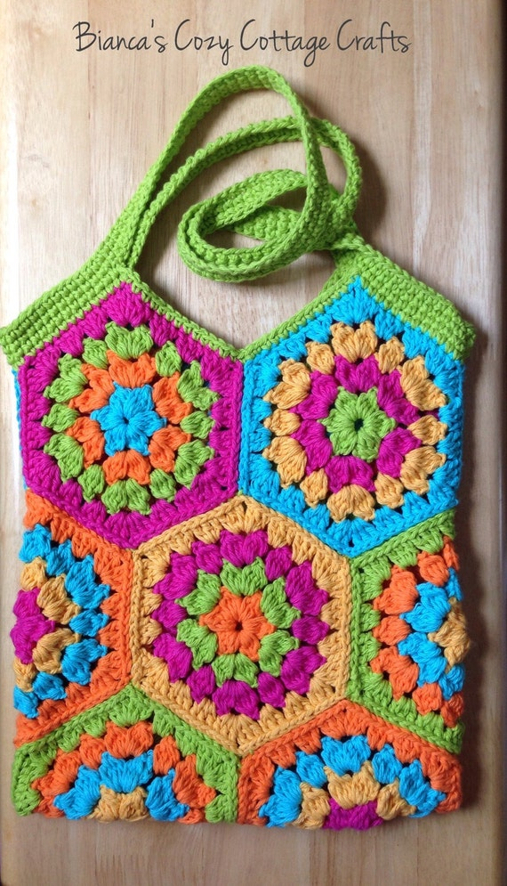 Tote bag, market bag, crochet tote bag, cotton bag, reusable bag ...