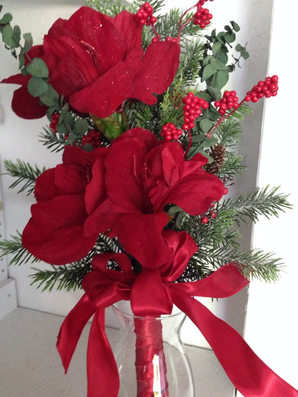 Christmas bouquet amaryllis bouquet christmas flowers for Bouquet amaryllis