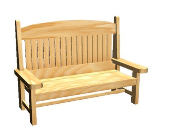 Natural HardWood Bench - Outdoor Furniture