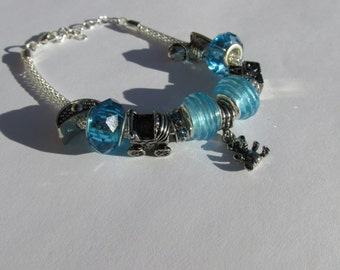 Blue Baby Boy Charm Bracelet