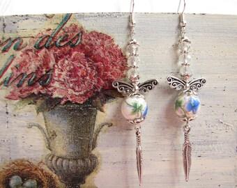 Long Earrings, Ceramic Earrings, Dangle Earrings, Boho Earrings