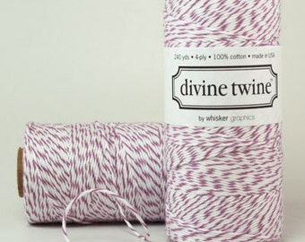 Divine Twine in Plum- (240 yds) Purple and White