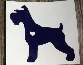 Schnauzer Sticker with Heart