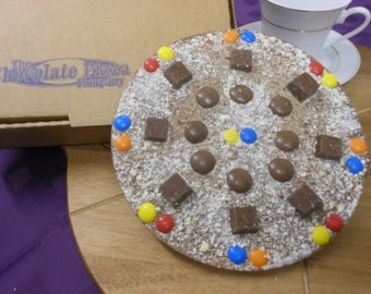 Crunch Bunch Chocolate Pizza