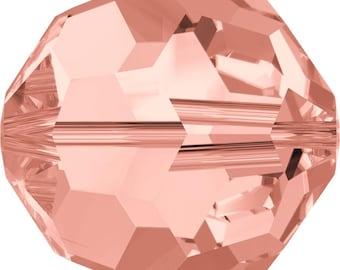 Swarovski Crystal Round Beads 5000 - 3mm 4mm 6mm 8mm 10mm - Rose Peach