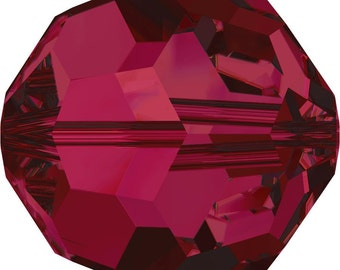 Swarovski Crystal Round Beads 5000 - 3mm 4mm 6mm 8mm - Ruby