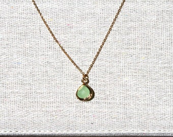 Mint Gem Necklace FREE SHIPPING Gold filled Chain Accessories Fashion Jewelry