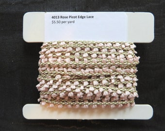 Light Rose Picot Edge Lace 4013