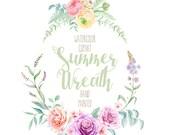Watercolor Wreath Flowers Hand Painted. Wedding Bouquet. Roses, Ranunculus Digital flowers DIY invites, scrapbooking, wedding invitations