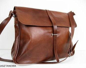 LEATHER LAPTOP Bag, BRIEFCASE Bag, Leather Shoulder Bag, Laptop Bag, Crossbody Leather Bag, Leather Messenger Bag, Weekender, School Bag