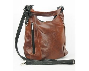 Elegant and casual leather bag. Crossbody bag. Leather shoulder bag. Handmade. Handbag.