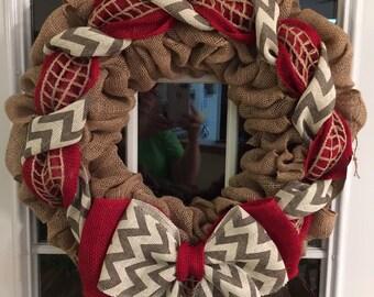 Chevron red wreath