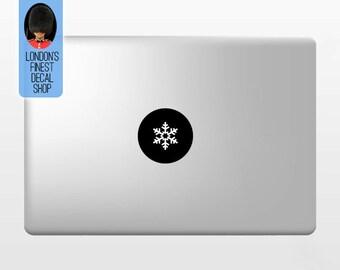 Snowflake - Macbook Vinyl Decal Sticker / Laptop Decal / iPad Sticker