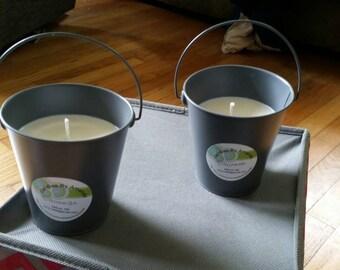 Citronella Metal Bucket Candles, Citronella Candles, Bucket Candles, Outdoor Candles, Citronella Soy Wax Bucket Candles, Summer Candles