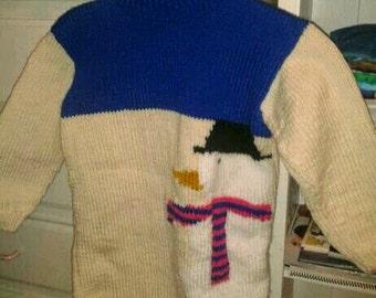 Dress Turtleneck snowman snow for girl ages 7-8