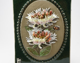 Wall Plaque Swedish decor ceramic wall hanging designed by Aimo Nietsvouri for Jie Gantofta