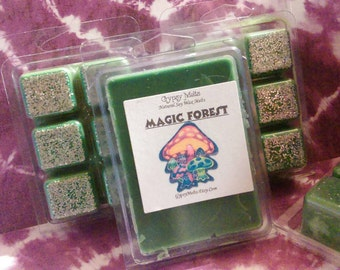 Magic Forest Soy Wax Melts~ 6 Break-Away Cubes In A 3.5 oz Pack