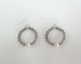 Swarovski Crystal Loop Earrings