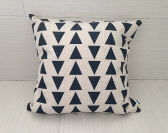 Black Triangle Modern Pillow Cover  *ON SALE