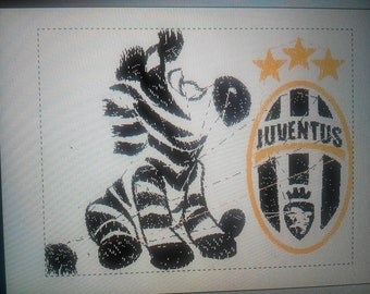 juventus won the Scudetto with zebra machine embroidery