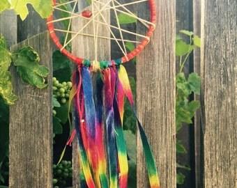 Rainbow Gypsy BoHo Dreamcatcher
