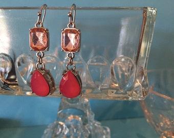 Pink gems in sterling silver