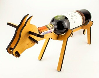 Wine bottle holder in the form of Cow Wine Holder Wine rack Stand for bottles Wine bottle stand Bottle holder Wine carrier Wine accessories