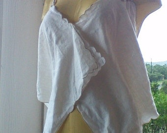 Shabby Chic Top made with Vintage Embroidered Linen