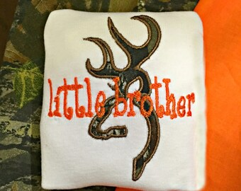 Little Brother Big Brother Browning Orange Camo Shirt