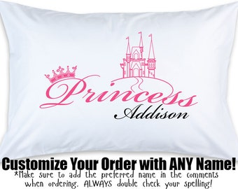 Personalized Girl's Princess - Custom Printed Pillow Case (1)