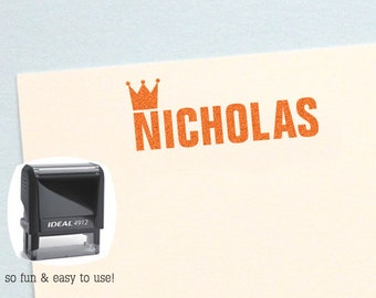 Personalized Kids Gifts, Crown Name Stamp, Prince Name Stamp, Personalized Birthday Gift, Kids Name Stamp, Custom Name Stamp, AK102